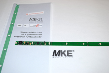 Tams WIB-31 LED- Leisten inkl. Funktions- Decoder,  gelb