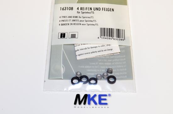 Faller Car System 163108 4 St Kompletträder Felge//Reifen Sprinter NEU/&OVP 161712